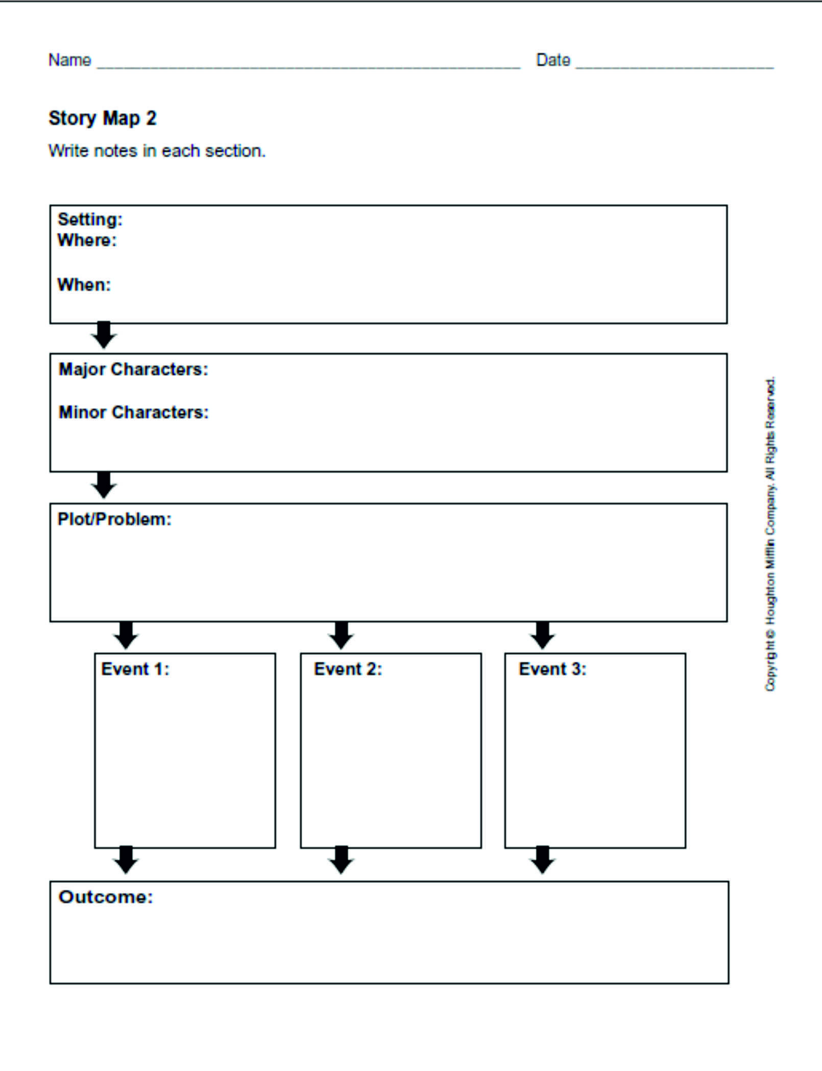 027 Narrative Essay Graphic Organizer Example Incredible Middle School Pdf Story Full