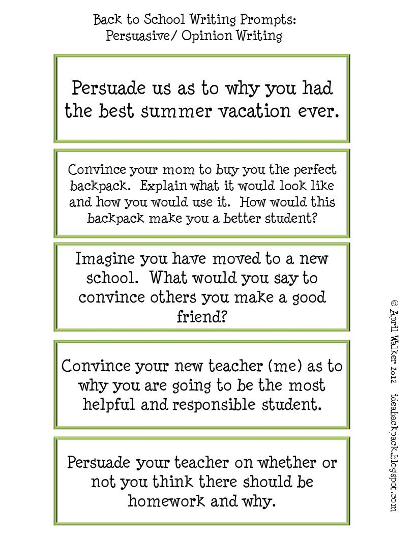 prompts for personal narrative essays