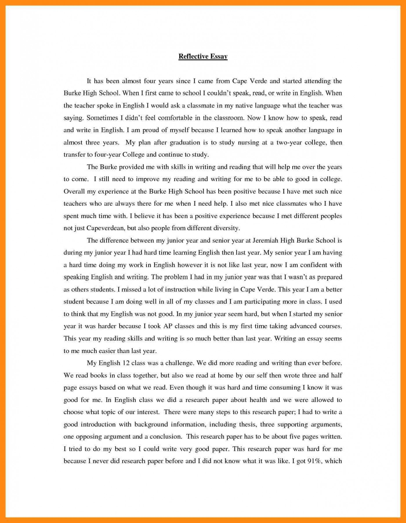 023 Self Reflection Essays Reflective Essay On Personal
