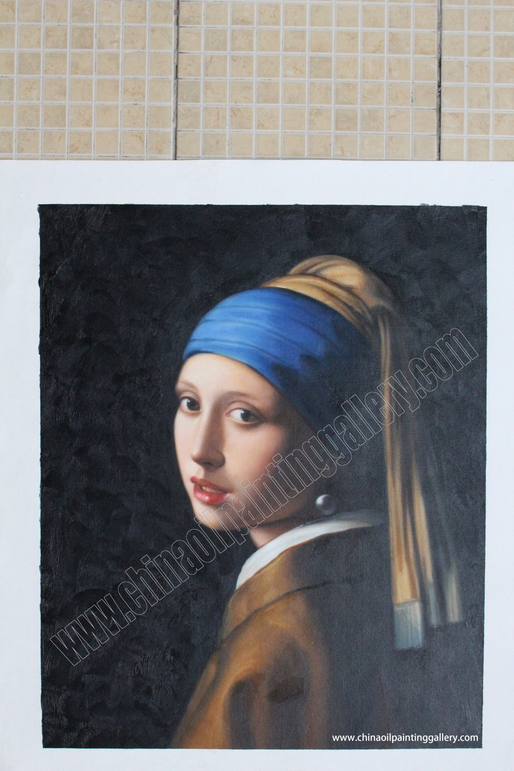 028 Girl With Pearl Earring Essay Example Oil Painting Reproduction Outstanding A The Movie Film Review Large