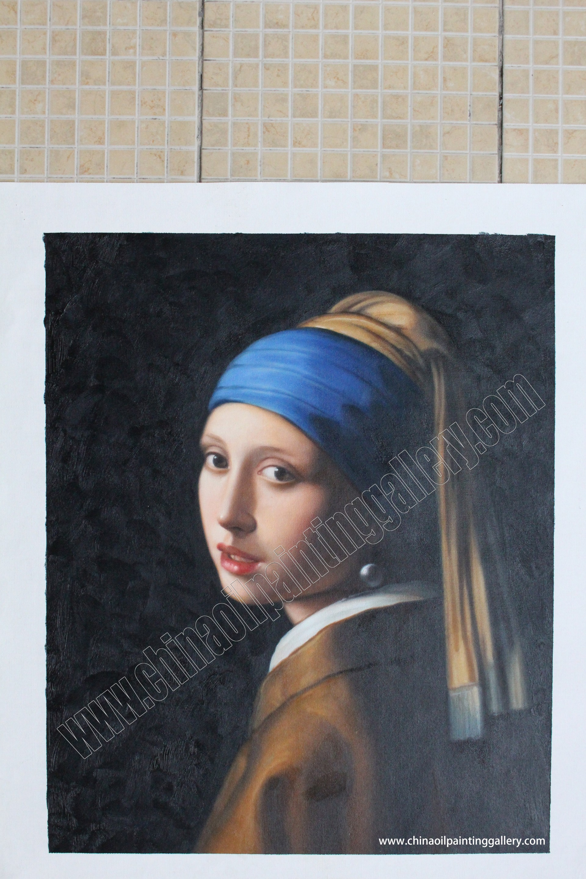 028 Girl With Pearl Earring Essay Example Oil Painting Reproduction Outstanding A The Movie Film Review 1920