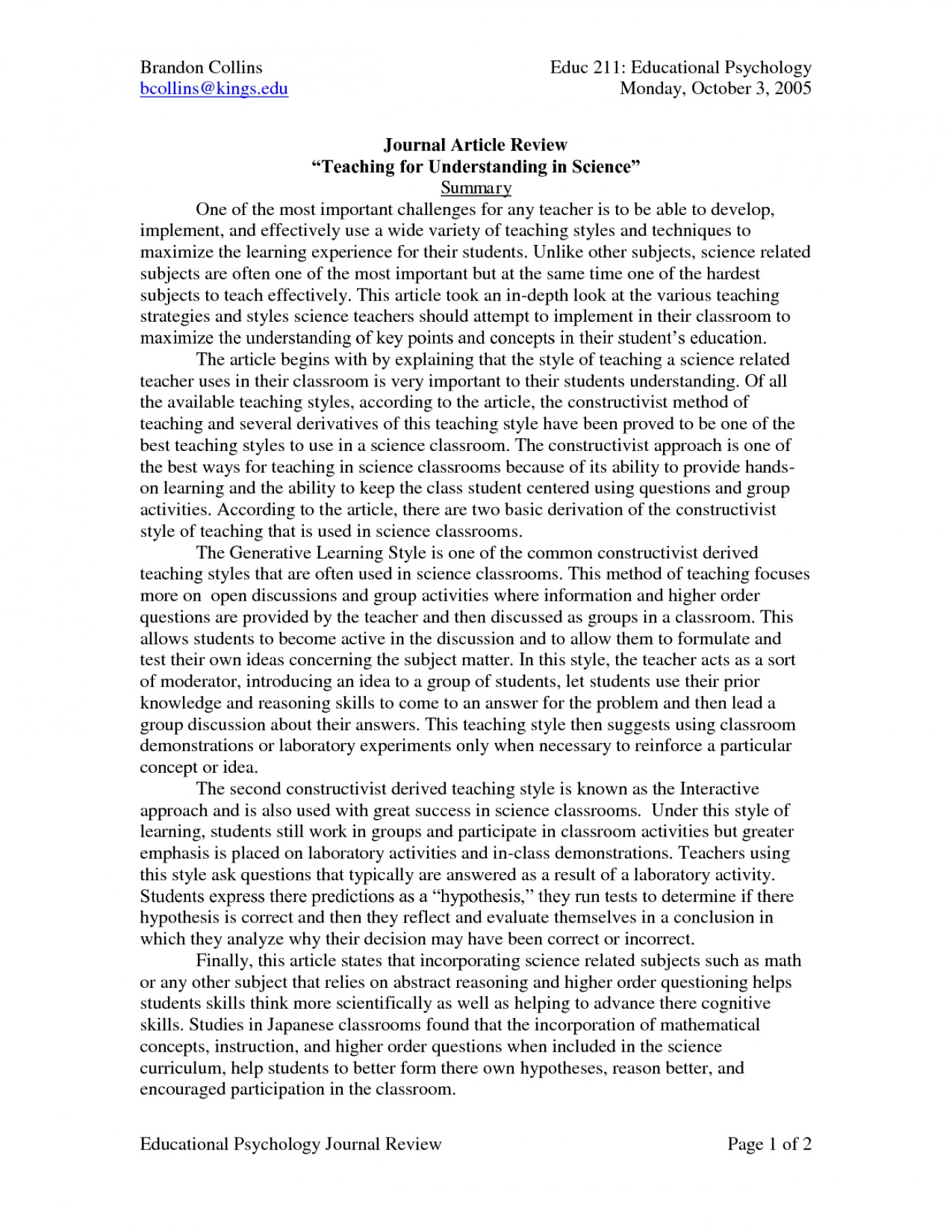 essay example english creative examples of writing how
