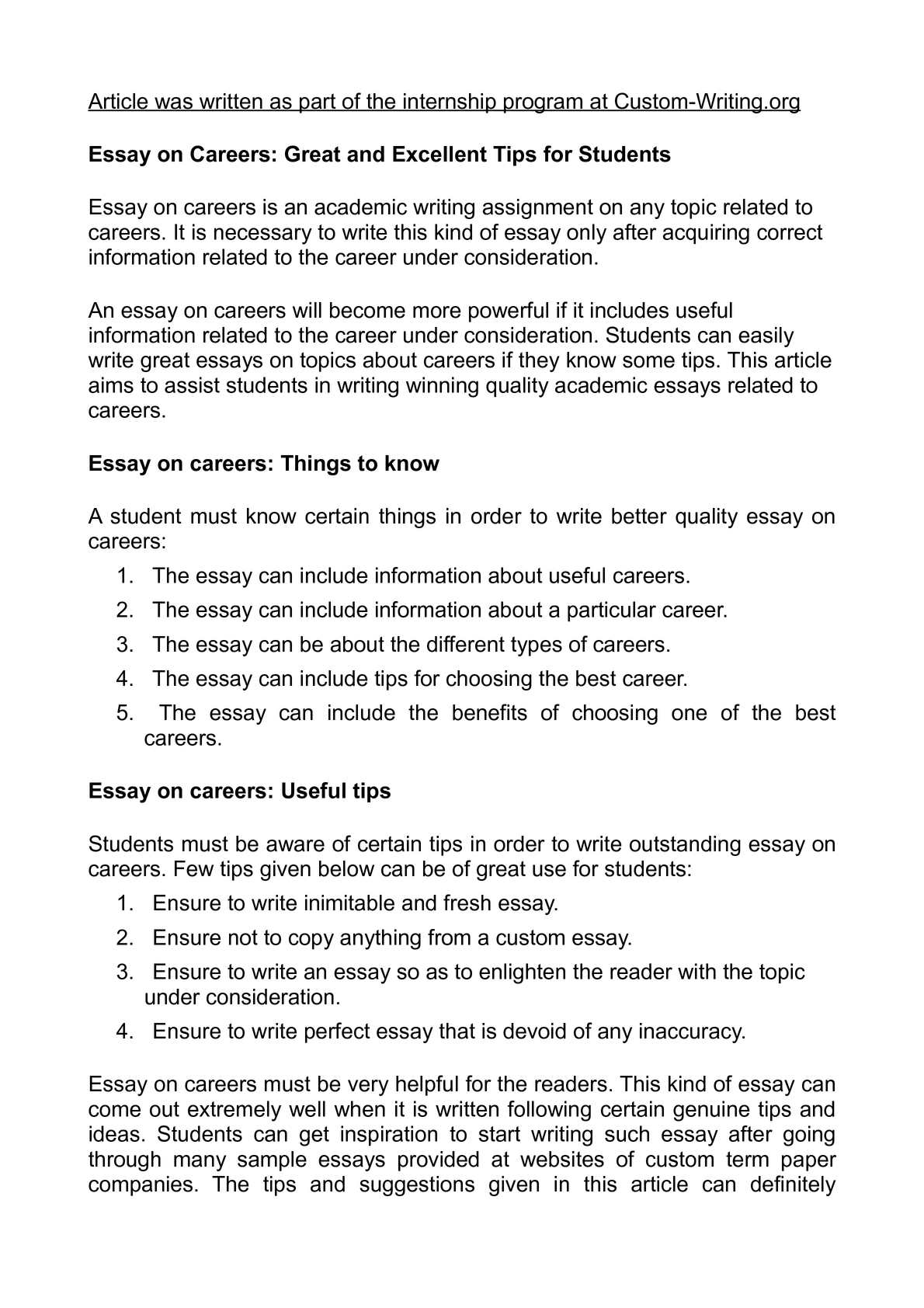 028 P1 Career Essay Amazing Research Rubric Example Goals Sample Full