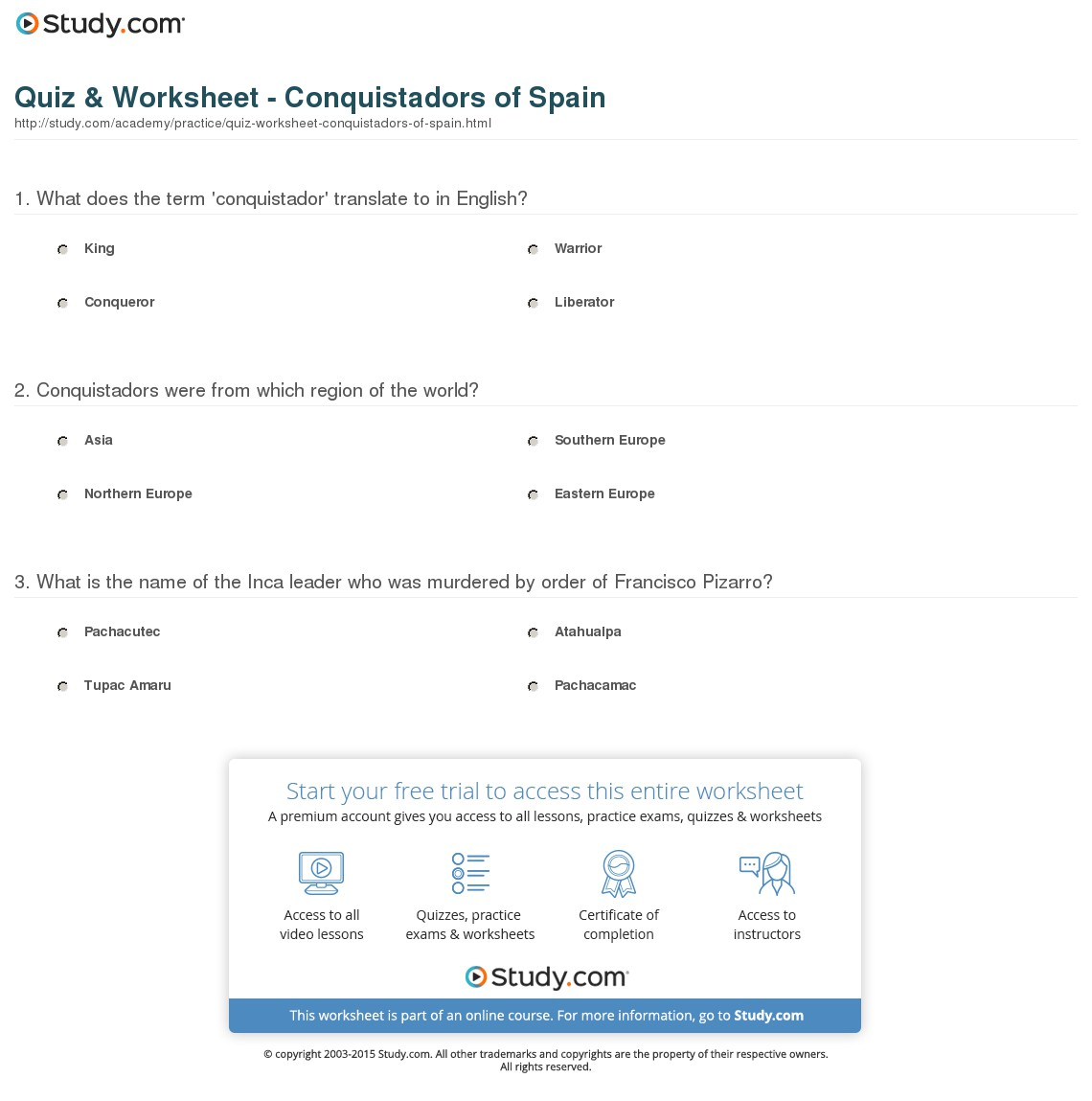 028 Translate Essay To Spanish Example Quiz Worksheet Conquistadors Of Staggering My Into What Does Mean In Full