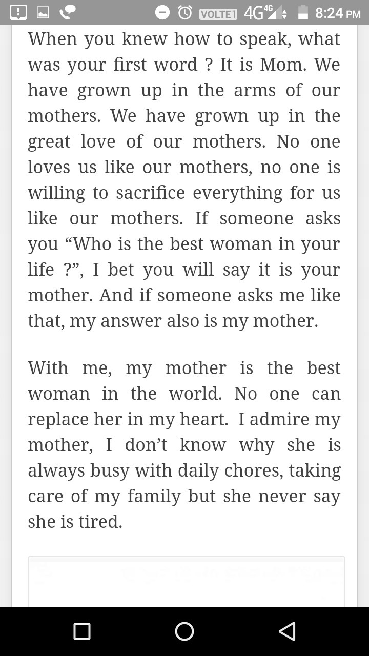 029 Essay Example About Admire My Phenomenal Mother Full