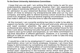 029 Mba Gmat Waiver Letter Sample Essay Shocking Topics Awa Essays Free Download