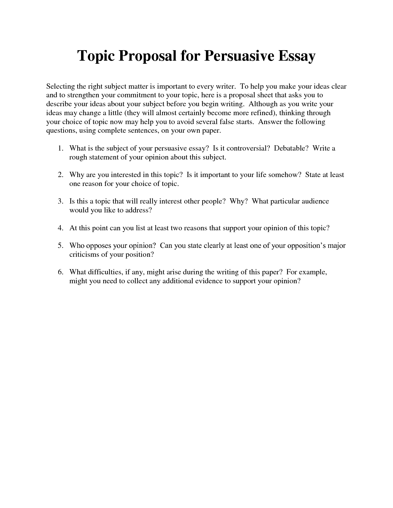 029 Proposal Argument Essayles Controversial Topics List Research Paper Of Argumentative For Middle School 6 Argumentativepersuasive Easy Good Great College Gatsby Unique Essay Examples Full