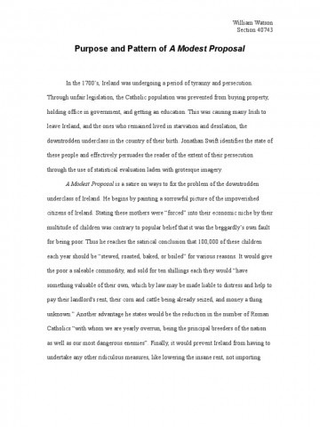 029 Satirical Essay Topics Example Worksheet Modest Proposal Answers Grass Frightening Satire On Obesity For College 111 360